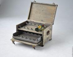 Купить Винный ящик - сундук для бутылок - винный, винный короб, винный ящик, винный шкаф. Ящик для вина. Box for wine.