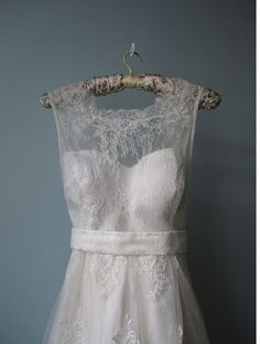 i love how the lace is put on this dress.