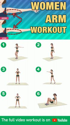 If you want to be able to lose arm fat in the fastest way possible then you need to know exactly what exercises to do. With this video workout you won't have that problem because it guides you through all the exercises you need to perform in the correct Full Body Gym Workout, Gym Workout Videos, Gym Workout For Beginners, Fitness Workout For Women, Fitness Workouts, At Home Workouts, Fitness Motivation, Fat Workout, Gym Beginner