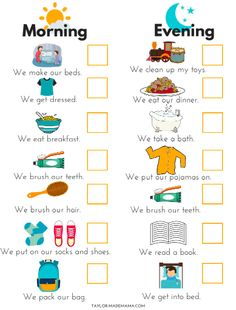 How To Get Out The Door On Time With A Toddler! - Taylor-made Mama - - 11 must-know hacks to get out the door on time with a toddler, including a printable PDF Toddler Routine Chart to help take the stress out of your mornings! Toddler Routine Chart, Daily Routine Chart For Kids, Toddler Chart, Chore Chart For Toddlers, Morning Routine Chart, Morning Routine Kids, Reward Chart Kids, Toddler Schedule, Charts For Kids