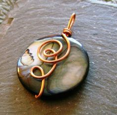 Copper Shell Flower by HandcraftedByKay on Etsy, $12.00