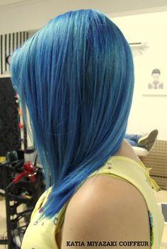 Katia Miyazaki Coiffeur - Salão de Beleza em Floripa: Corte Curto - Coloração - Azul - Cabelo liso - Bri...