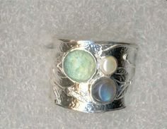 #Roman #glass #rings #bluenoemi 225 USD http://www.bluenoemi-jewelry.com/irglri.html