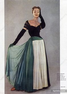 Jean Dessès 1952 Ivy Nicholson, Evening Gown, Photo Jesper Hoem