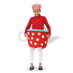 There's no need to have an imaginary tea party when you can dress your child as a teapot for her Halloween costume!