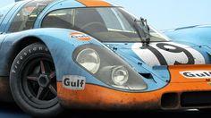 "Porsche 917 K in a Gulf livery for Le Mans "" Porsche Panamera, Porsche Autos, Porsche Motorsport, Porsche Cars, Sports Car Racing, Sport Cars, Race Cars, Auto Racing, Ferdinand Porsche"