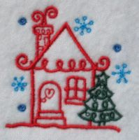 Christmas Home sweet home Embroidery Design