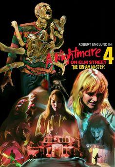A Nightmare On Elm Street 4 The Dream Master Horror Movie Slasher Art Poster Fan Made