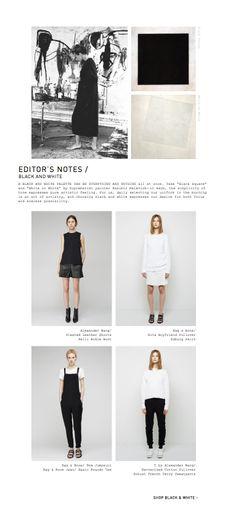 La Garçonne // layout #black #white #minimalist