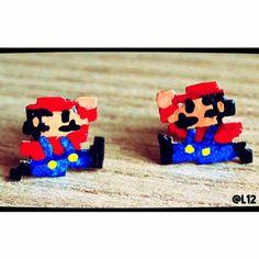 Aretes Mario Bross Aretes de plata.  Joyería SinChanclas. Jewelry. Pendientes. Earrings.