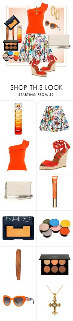 """""""Multicolored skirt"""" by stars-5 ❤ liked on Polyvore featuring HUGO, Jeremy Scott, Roland Mouret, Joie, Kate Spade, Clarins, NARS Cosmetics, Morphe, Rimmel and Anastasia"""