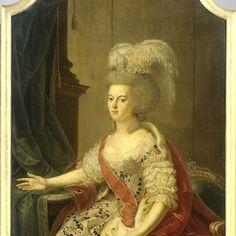 """Frederika Sophia Wilhelmina of Prussia (1751-1820), Wife of Prince Willem V,"" Benjamin Samuel Bolomey, ca. 1780; Rijksmuseum SK-A-949"