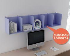 #Cubibox laccati lavanda. Catalogo complementi. www.moretticompact.com