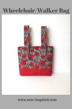 This small tote has adjustable straps that detach from the bag on one end with hook and loop tape to make it easier to take on and off a wheelchair or walker.