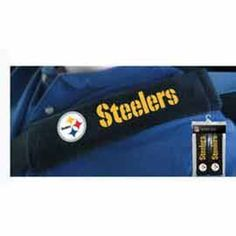 Picture of Pittsburgh Steelers Seatbelt/Shoulder Pads Steel Wheels, Pittsburgh Steelers, Shoulder Pads, Store, Football, Soccer, Futbol, Larger, American Football