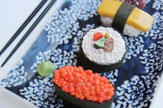 Hand sculpted sushi on The Loop
