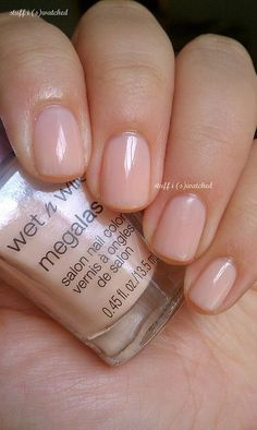 VISIT FOR MORE Wet n Wild Milk Ooooh this is the perfect nude polish! The post Wet n Wild Milk Ooooh this is the perfect nude polish! Cute Nails, Pretty Nails, Hair And Nails, My Nails, Nail Art Designs, Bride Nails, Neutral Nails, Neutral Makeup, Manicure E Pedicure