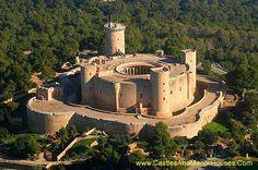 Bellver Castle. northwest of Palma, Majorca, Balearic Islands, Spain. - www.castlesandmanorhouses.com