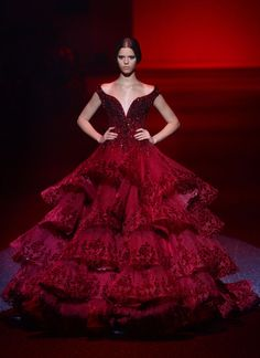 Michael Cinco - red couture - 2013