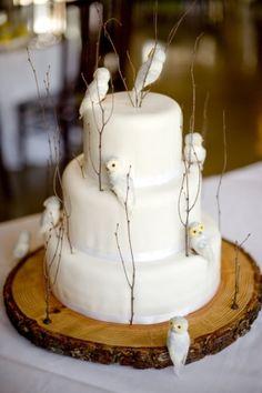 Love, love, love this cake.  Bird cake by Semla & Co