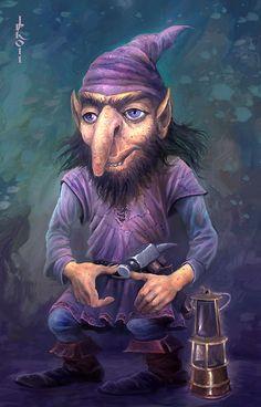 """Mining Dwarf"" by Jan Patrik Krasny"