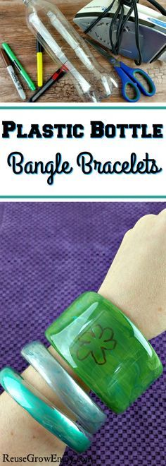 Never ending supply of plastic bottles? It is always a great idea to reuse them. I will show you how to make these DIY plastic bottle bangle bracelets.