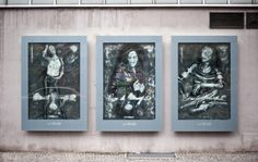 In Berlin, a shadowy street artist known as Vermibus transforms mundane billboards into creepy macabre frightscapes Bus Stop, Dantes Inferno, Atlantic City, Street Art, Frame, Cities, Articles, Ads