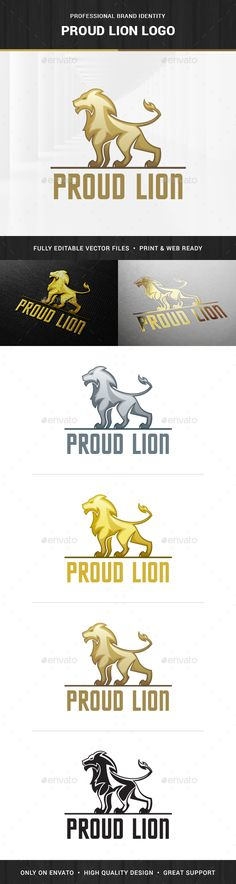 Proud Lion Logo Template — Transparent PNG #lion #finance • Available here → https://graphicriver.net/item/proud-lion-logo-template/14677065?ref=pxcr