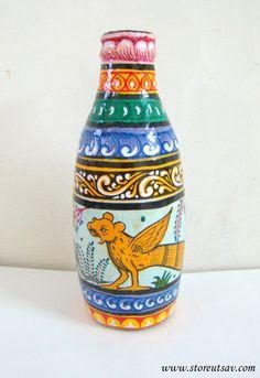 SALE  FLAT 20% OFF Painted Bottle Pattachitra Home by StoreUtsav