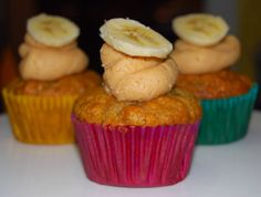 Banana Cupcakes with Peanut Butter Frosting - Holy Cow! Vegan Recipes