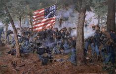 Albert's regiment--the Michigan. Art by Don Troiani Civil War: The Michigan Volunteers of the famed Iron Brigade makes a stand near the Seminary on the first day at the battle of Gettysburg, July, 1 1863 Military Art, Military History, Military Service, Civil War Art, Michigan, America Civil War, Civil War Photos, Historical Art, Le Far West