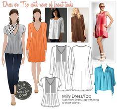 Dress/Top with tucks