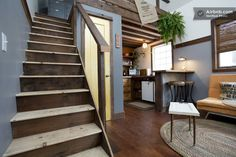 A tiny house in Portland that's been built using reclaimed and salvaged materials. See more at: http://humble-homes.com/rustic-tiny-house-made-reclaimed-materials/