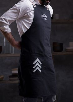 MØS Gastronomic Smart & Casual on Packaging of the World - Creative Package Design Gallery Restaurant Aprons, Restaurant Uniforms, Restaurant Branding, Restaurant Design, Cafe Uniform, Waiter Uniform, Bartender Uniform, Kellner Uniform, Carnicerias Ideas