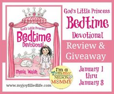 God's Little Princess Bedtime Devotional Review and giveaway - giveaway ends 1/8/14