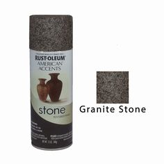 Rust Oleum American Accents Stone Textured Spray Paint Vases Pots