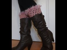 Crochet Boots Cuffs - YouTube