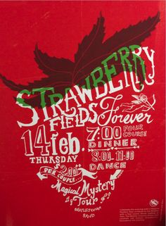 Strawberry Fields Forever by Arpineh Khatchatorians, via Behance