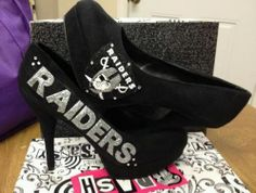 Raiders Pump on Etsy, $85.00 obj mom Tammy only if you liked the raiders!!:)
