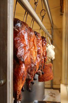 Chinese roast duck = Peking Duck on my plate. oh yum!
