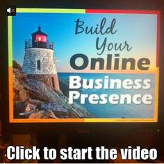 Get a sneak peek at my presentation for the webinar: Build Your Online Business Presence. Click twice to start the video.