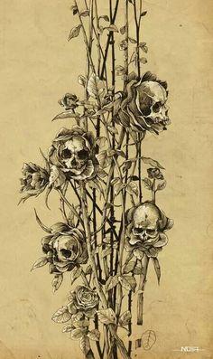 Sugarskull flower buds