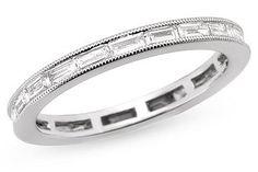 Horizontal baguette/emerald/asscher eternity rings :  wedding asscher baguette eternity RDA 040315 B L 34 Carat Baguette Cut Eternity Band 18K White Gold