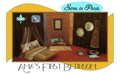 "Ts2 to Ts4: Sims in Paris ""Ama's First Bedroom"" - Sims 4 Designs"