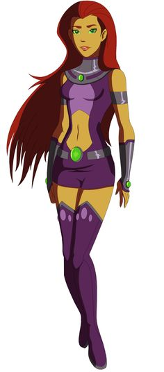 Hey, look at this! Drawn by an animator for YJ; what Starfire would look like on Earth 16. Greg actually said that Starfire did exist in this universe--so this might be actual canon!