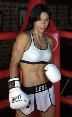 Female MMA fighter Lena Ovchynnikova