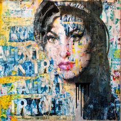 Amy Winehouse Talent and Tragedy Collage by Anyes Galleani Saatchi art