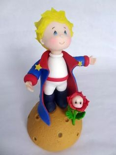 Principito Porcelana Fria - $ 295,00 Little Prince Party, The Little Prince, Butterfly Tree, Biscuit, Fondant Baby, Pasta Flexible, Dry Clay, Cold Porcelain, Cake Smash