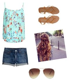 """""""Wish It Was Summer☀️"""" by oliviabresnicky on Polyvore featuring J.Crew, Raey, Forever 21 and Billabong"""