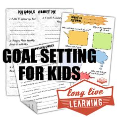 Goal Setting & New Years Resolutions for Kids. Printable method to help discover and identify goals.